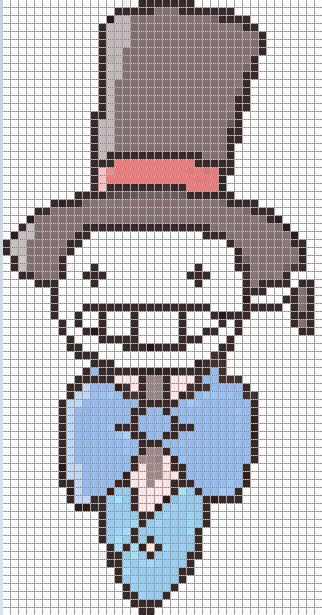 Howl's Moving Castle perler bead pattern