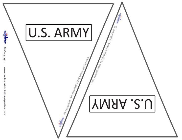 Small Printable US Army Flags