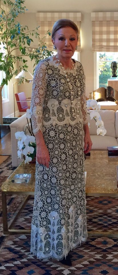 H.I.M Empress Farah Pahlavi in Bahar&Reza design