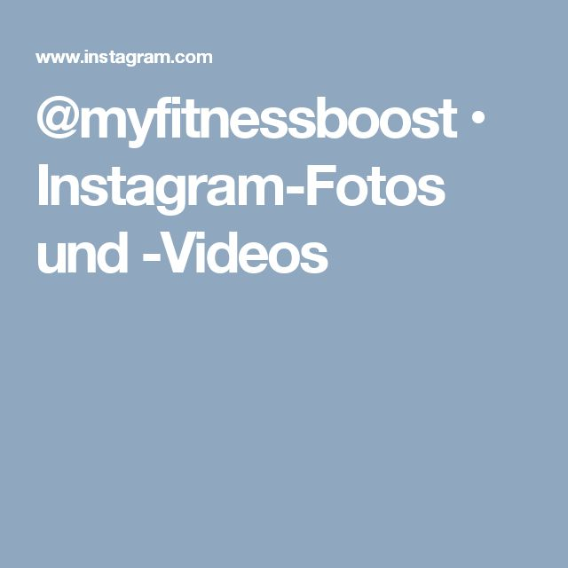@myfitnessboost • Instagram-Fotos und -Videos