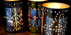 Tin can lamp. cool idea to up-/recycle