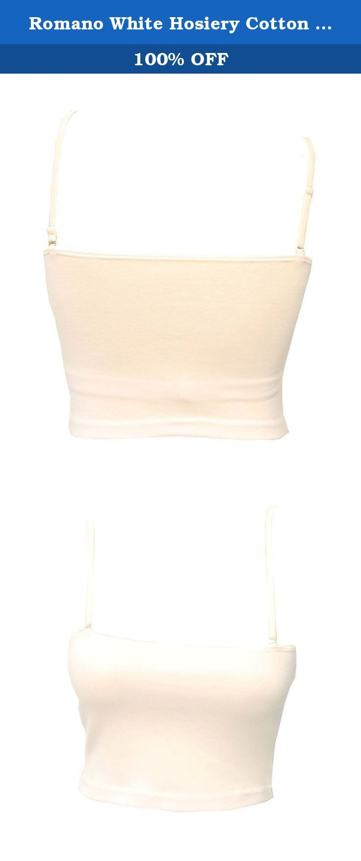 Romano White Hosiery Cotton Camisole with Detachable Straps & Removable Pads. Fall in love with the soft texture of the fabric.Your skin will love the feel of this Jegging as it is fashioned using the material that is famous for comfort - cotton.