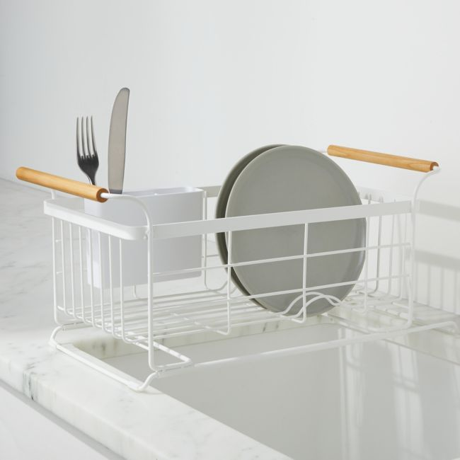 Yamazaki Tosca White Over The Sink Dish Drainer Rack In 2020