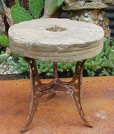 Old Round Sharpening Stone Whetstone Grinding Wheel by RustySpoke