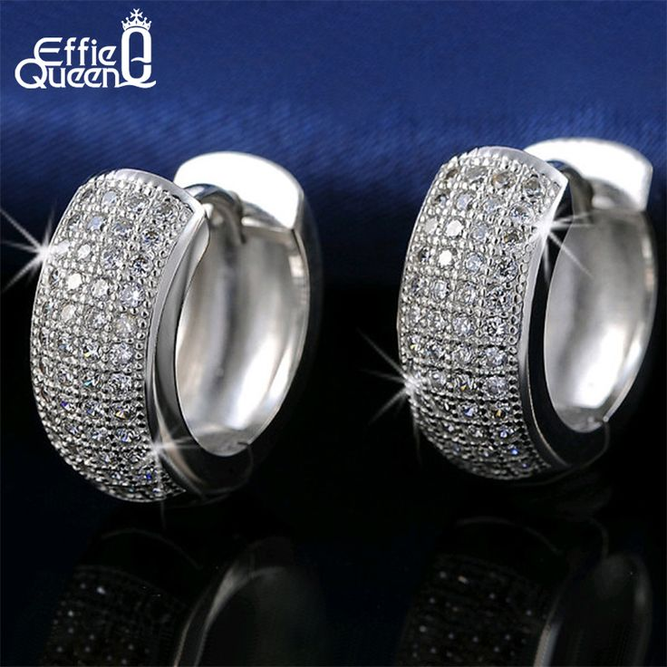 Effie Queen Newest Style Micro Paved AAA Zircon Earrings For Women's Birthday Gift Luxury Woman Earrings DE100 <3 Click the VISIT button to enter the website