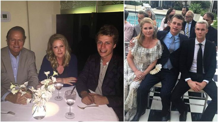 Conrad Hilton 3 with his father, mother and brother