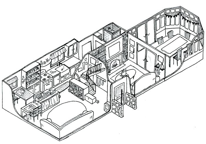 pillow drawing isometric - 700×490
