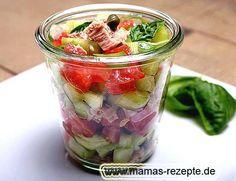 Rezept Thunfisch Salat im Glas auf Mamas Rezepte Homepage (Paleo Pizza)
