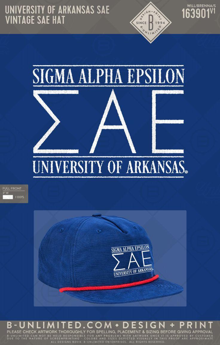Sigma Alpha Epsilon Vintage Hat #BUonYOU #greek #greektshirts #greekshirts #fraternity #sigmaalphaepsilon #hat #vintage #arkansas