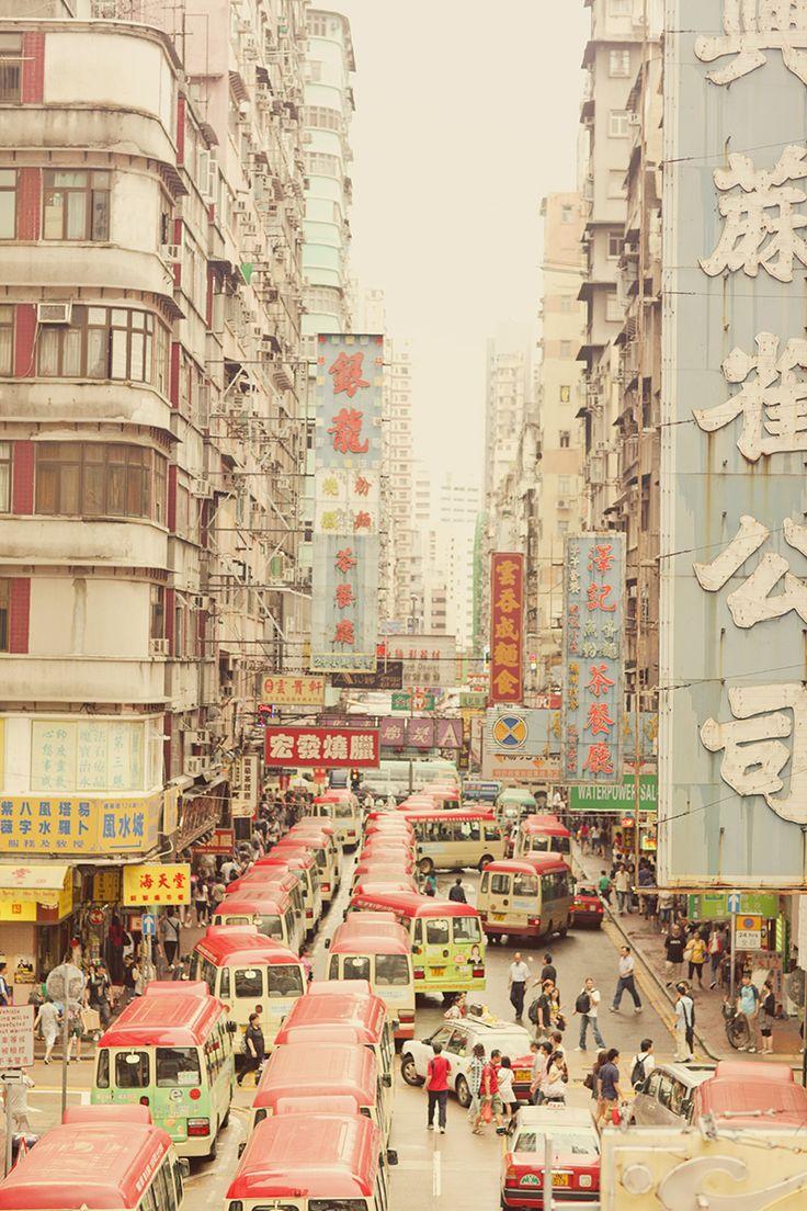 Hong Kong, China. Lots of people.