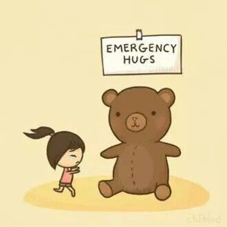 hug, emergency, and bear image