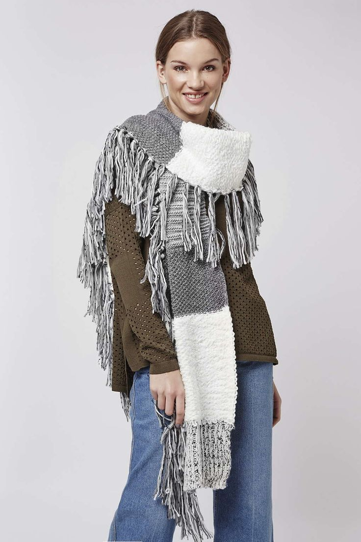 Photo 2 of Mix Stitch Tassel Scarf