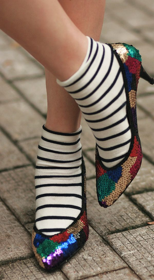 socks and sequins