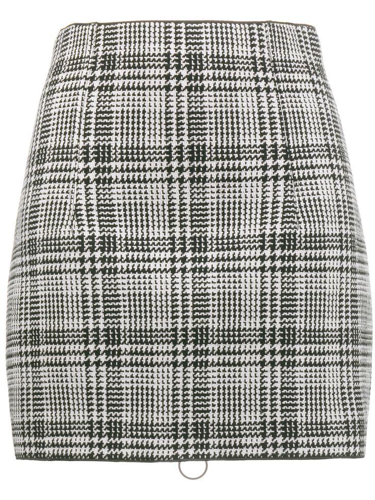 OFF-WHITE checked mini skirt
