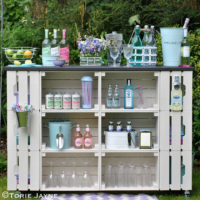 DIY outdoor bar tutorial with step by step instructions | Flickr