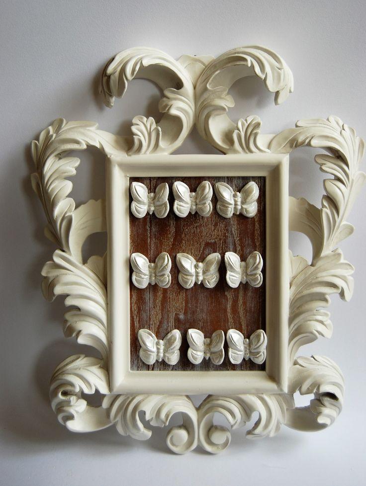 cornice intagliata con farfalle 40x34 shop on line https://almagia.ecwid.com/