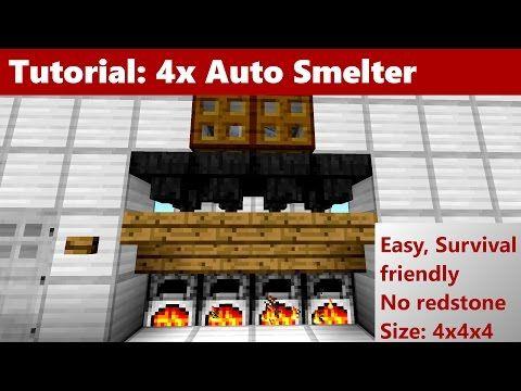 41) Easy Super Smelter 1 12 - Tutorial (Minecraft 1 10, 1 11