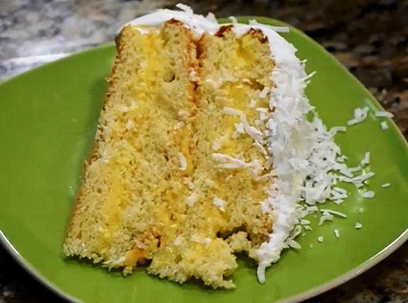 Кокосовый торт с лимонным кремом