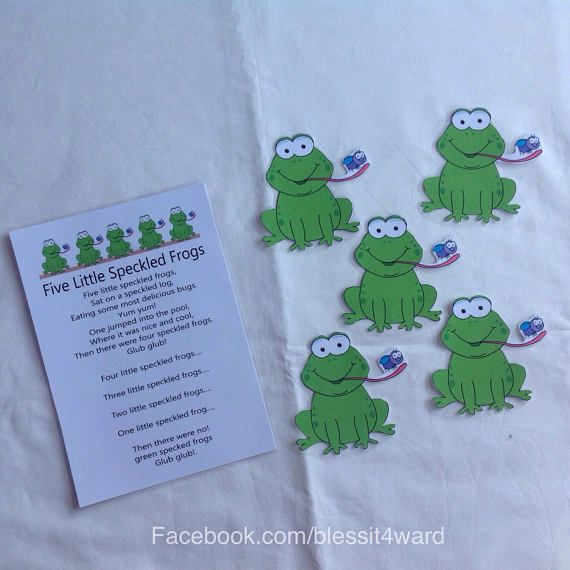 Five Little Speckle Frogs sheet/ cards  display cards