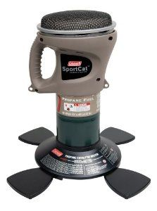 Coleman's SportCat Heater is a great portable heater you can take on a camping trip, to a sports outing, or in your golf cart.  Its 1500-BTU heater will run for up to 14 hours on a single 16.4-ounce can of propane.