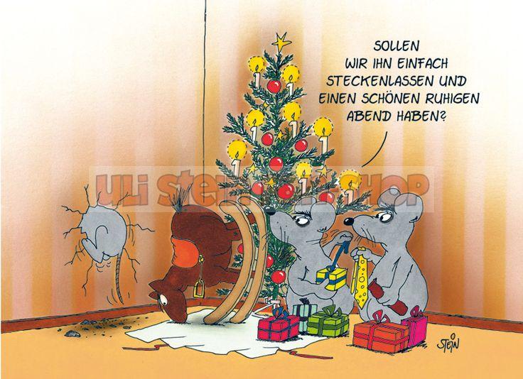 Postkarte Weihnachten / Stecken lassen-U60_374