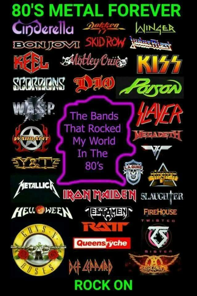 80's Metal Bands                                                                                                                                                                                 More
