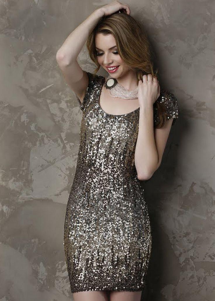 Shail K. KL3206 Sequin Cocktail Dress