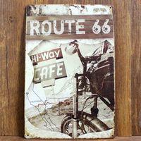 Новый 2015 20 x 30 см о сша металлическое олово признаки старинные дома кафе ресторан маршрут 66 плакат металл ремесло художественная роспись бесплатная доставка