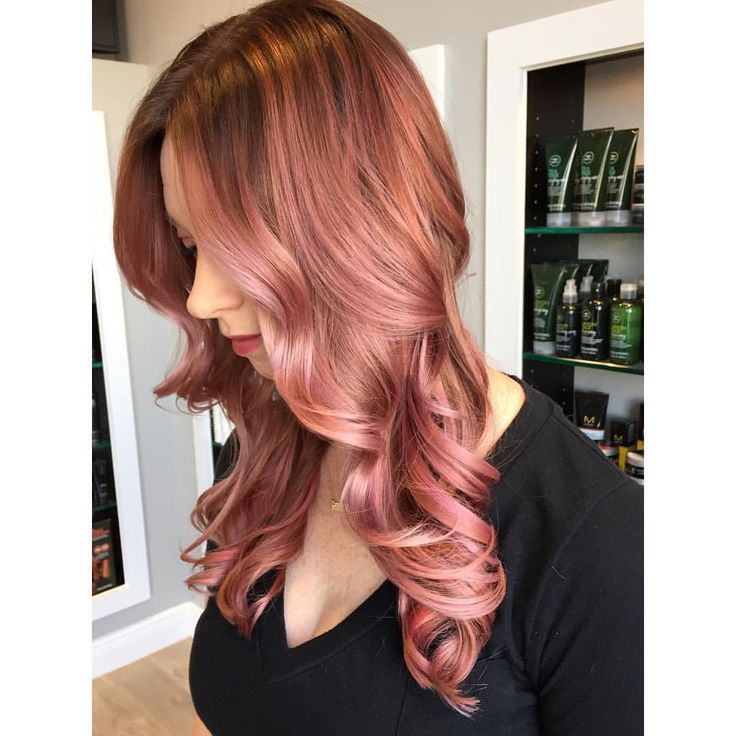 """Cassandra McGlaughlin on Instagram: """"One more Rose Gold Flashback- One year ago! I took inspiration from my previous formula (on the manny) and made it come to life on my dear friend @aperky. How beautiful is she?!? xoxo #btconeshot_color16 #btconeshot_ombre16 #btconeshot_haircolor16 #btconeshot_hairpaint16 #btconeshot_transformations16 #btconeshot_creativecolor16 #btconeshot_rainbow16"""""""