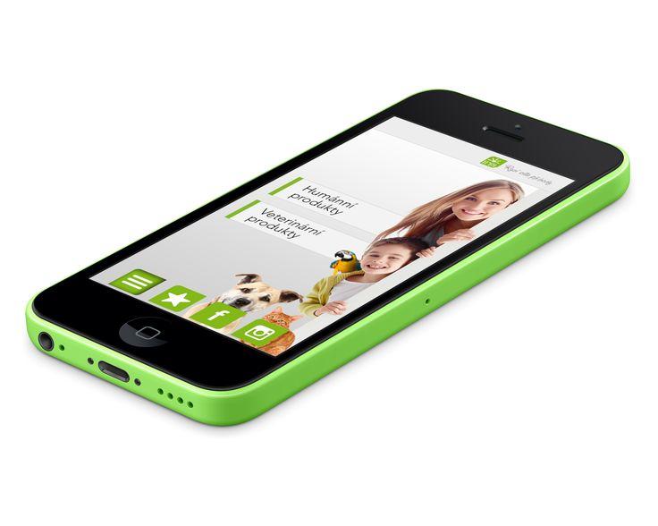 Hlavní Menu mobilní aplikace