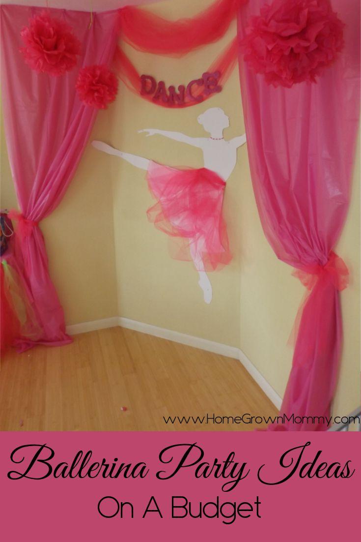 Ballerina birthday party ideas http://www.homegrownmommy.com/2014/09/03/ballerina-party-ideas-on-a-budget/