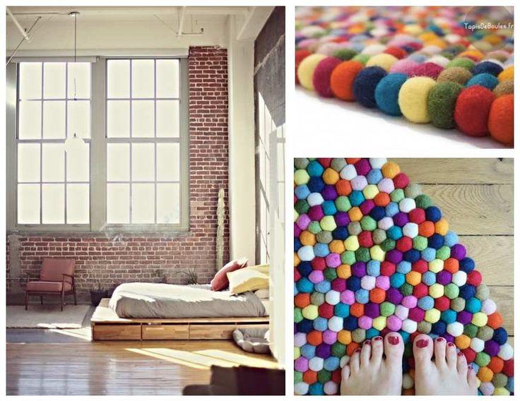 Aujourd'hui, je partage avec vous mon coup de cœur pour les tapis en feutre composé de petites boules de laine feutrée. J'aime tout particulièrement les versions rondes que j'imagine parfaitement dans une chambre. Le principe des petites boules permet...