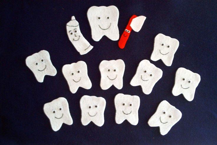 10 Baby Teeth Dental Health Felt Story