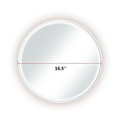 Perfect LED Wand Kosmetikspiegel NANAMI Runden LED Spiegel Light Zeitgen ssig Xcm Wei Amazon