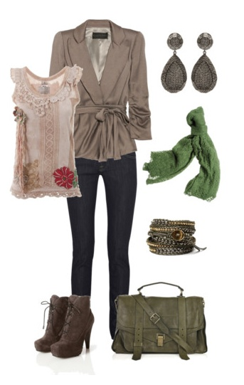 Downtown Diva.: Earthy Outfit, Shirts, Jackets, Style Pinboard, Jeans Outfit, Fall Outfit, Green Outfit, Work Outfit, Boots