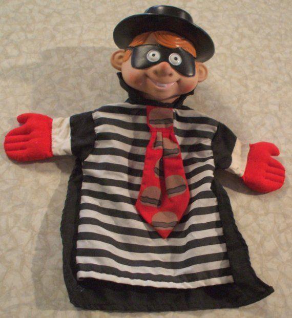 Official Hamburglar McDonalds Hand Puppet ca. 1993 📌🍔 poppenkastpop boef inbreker