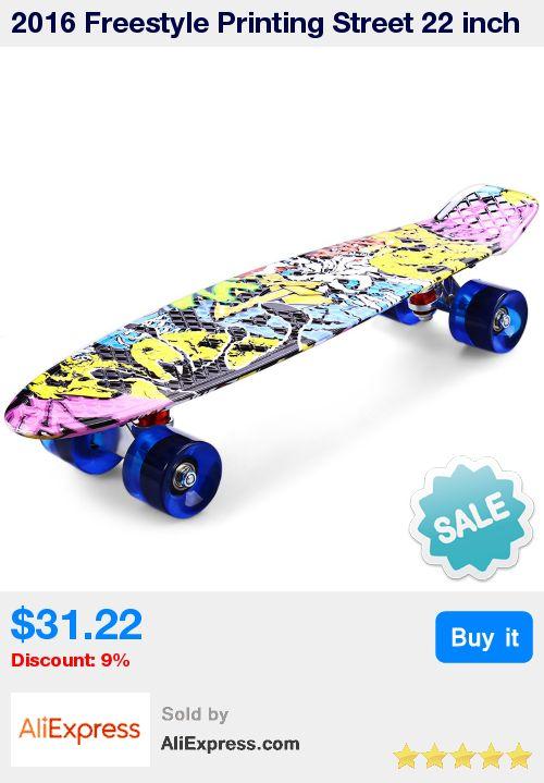 2016 Freestyle Printing Street 22 inch Long Skate Board Complete Retro Graffiti Style Skateboard Cruiser Long Board Skateboards * Pub Date: 22:54 Jun 27 2017