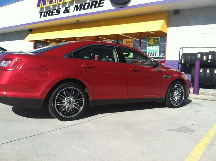 """Check out another profile photo of Warren Peek's 2006 Ford Taurus sporting 20"""" CX 818 wheels. Photo taken at our Stone Mountain Rimco store at 5540 Memorial Drive Stone Mountain, GA 30083. (404) 292-5267."""