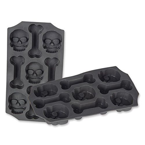 Pack of 12 Skull and Bones Ice Mold Halloween Party Decorations @ niftywarehouse.com
