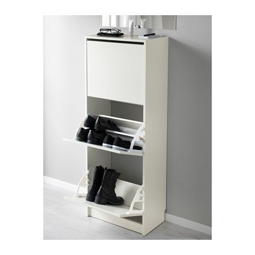 Ikea Foyer Cabinet : Bissa shoe cabinet with compartments white