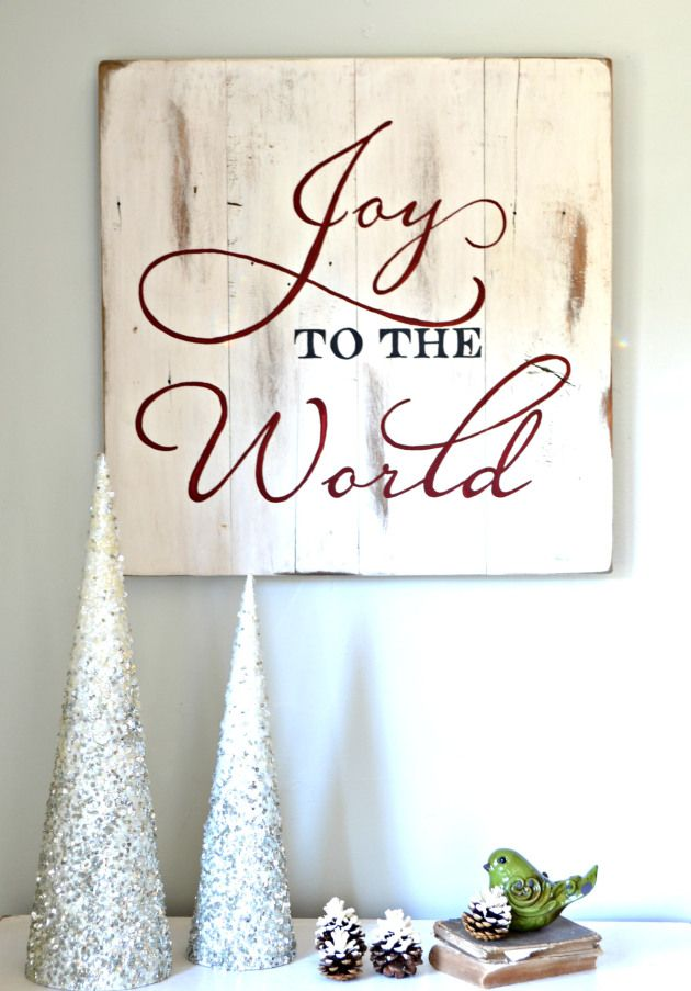 Joy to the World Christmas sign I can't wait till Christmas!!!