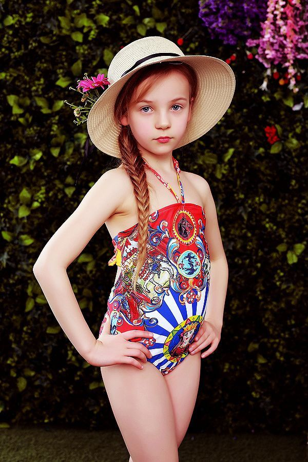 Girls Swimwear Kids Clothes 2017 Summer Brand Baby Girls Swimsuit Carretto Siciliano Print Toddler Swimwear for Girls 2-12Y