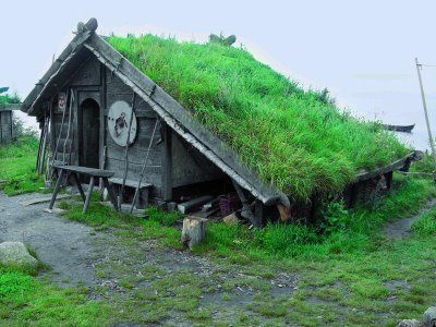 Nid douillet --  viking house. I should model a goat house or chicken coop after this someday.