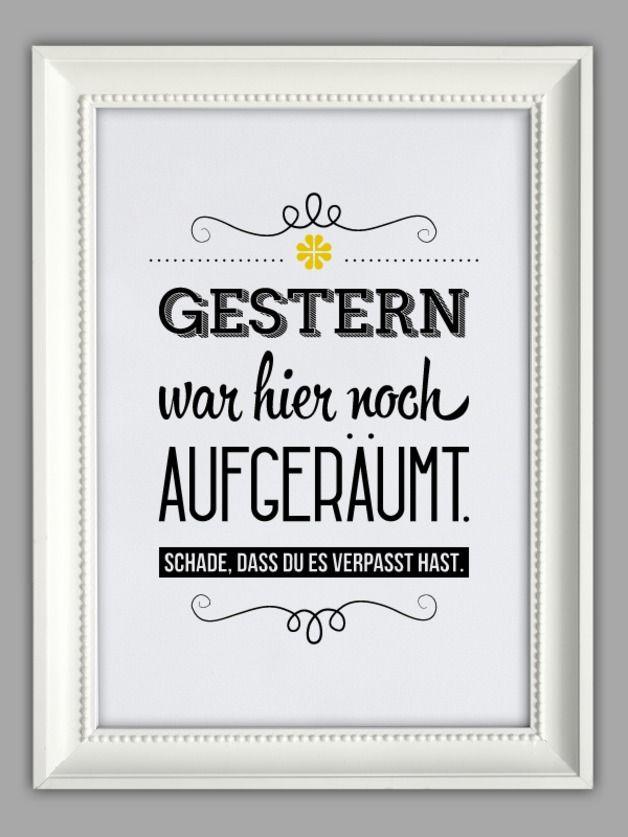 """Originaldruck - """"AUFGERÄUMT"""" Kunstdruck - ein Designerstück von Smart-Art-Kunstdrucke bei DaWanda"""