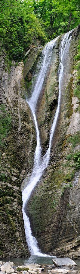 Панорама Ореховского водопада