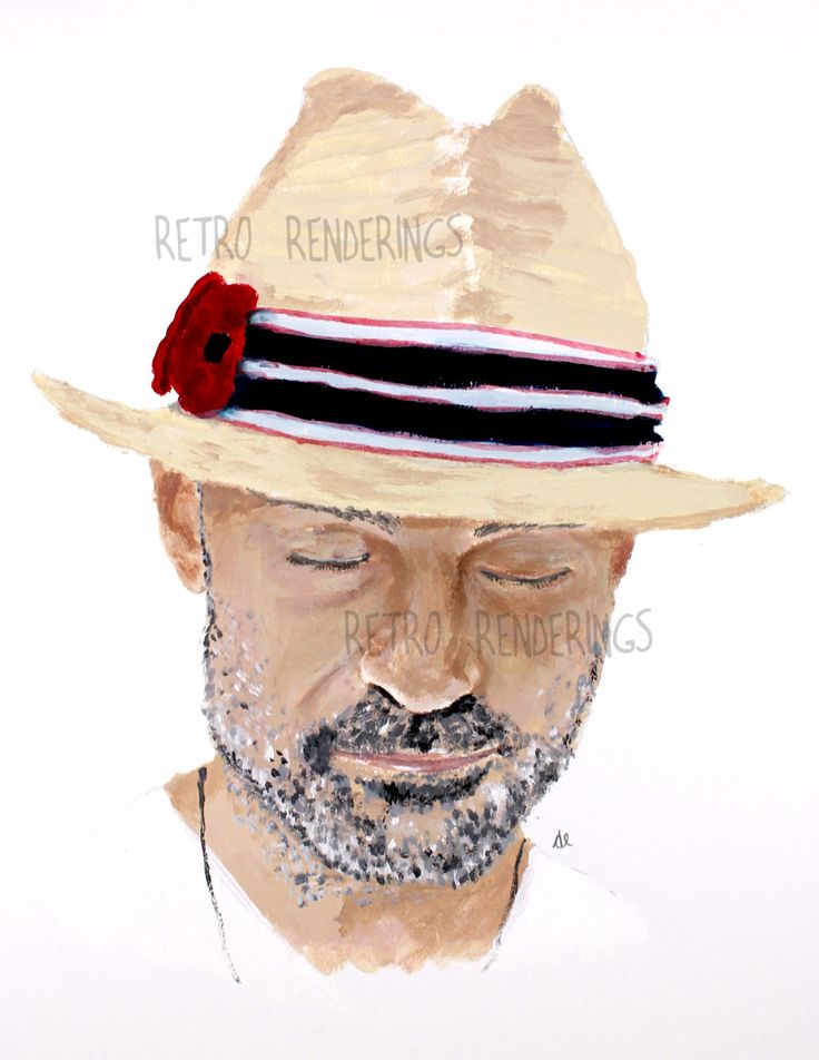 Gordon Downie, Tragically Hip painting, portait, art print
