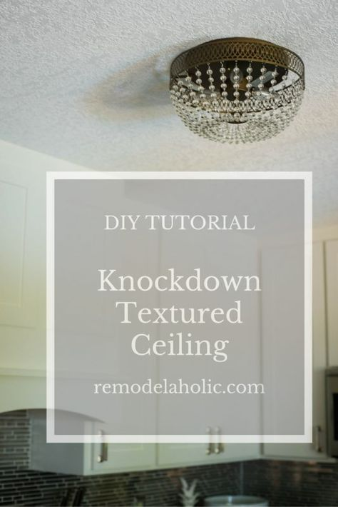 Whether you build new or remove the dated (and dreaded) popcorn ceilings, you can apply your own knockdown ceiling texture and save money! Tutorial from construction2style on Remodelaholic.com