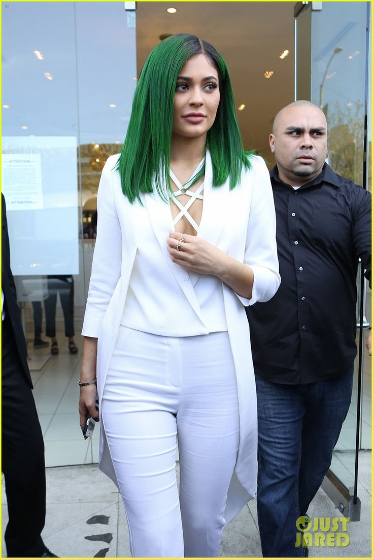 Kylie Jenner Gets Support From Kris & Caitlyn at Lip Kit Launch: Photo #899949. Kylie Jenner brings back her green hair while attending the launch of her Lip Kit by Kylie held at DASH on Monday (November 30) in West Hollywood, Calif.    The…