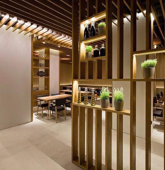 furniture divider design. negre studio restaurante besso palma de mallorca open timber sections furniture divider design