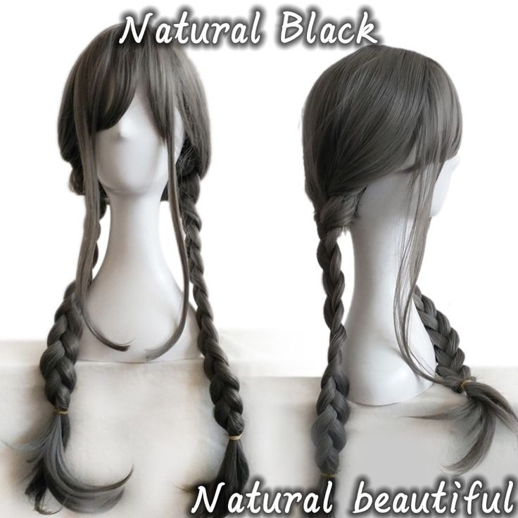 1PC Perruque Cheveux Synthetic Wigs Black Long Straight Hair Wig 2 Braiding Braid Cheap Wigs Cosplay Wigs For Women.Made by 100% Japan high temperature fiber,looks like real hair and more confortable,soft,breathable.It brings out a positive and happy mood everywhere around us and that to make some change in the hairstyle.A comfortable experience, a confident appearance.Ok, maybe  you can think about the cosplay wigs.